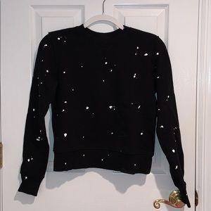 Rag & Bone Black Crewneck Sweatshirt